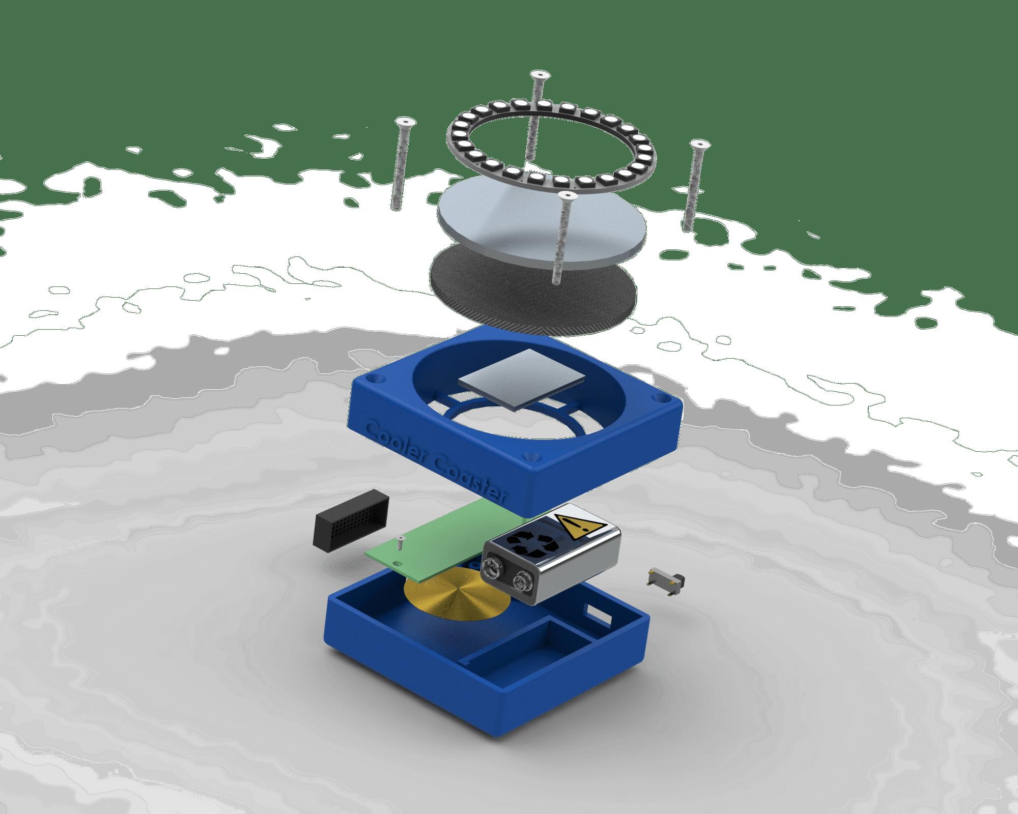 Beverage Cooling Coaster - Designed and Rendered