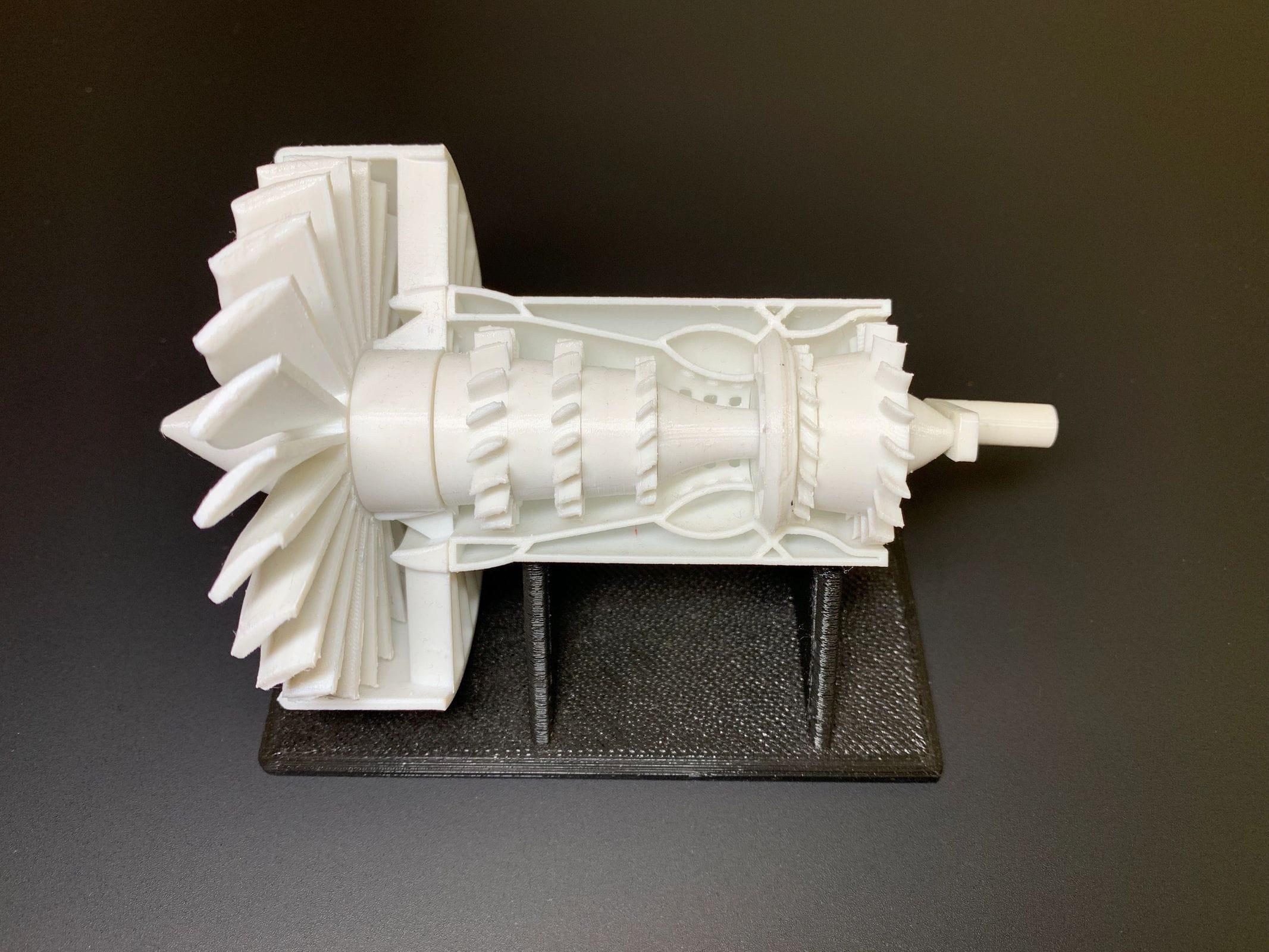 GE Turbofan Assembly - FDM Printed