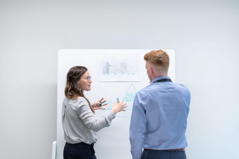 engineers talking communicating
